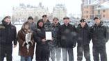Награждение на ежегодном конкурсе среди ЧОП.
